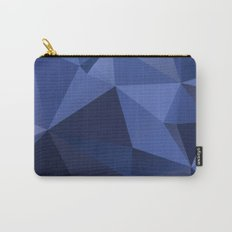 Abstract of triangles polygon in navy blue colors Carry-All Pouch