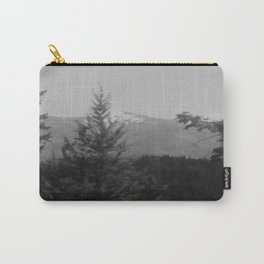 Snow Cap Mountain black and white Carry-All Pouch