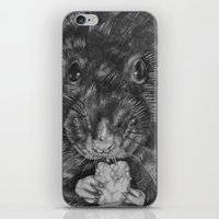 rat iPhone & iPod Skins featuring Rat by Natasha Maiklem