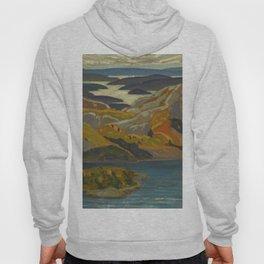Canadian Landscape Oil Painting Franklin Carmichael Art Nouveau Post-Impressionism Grace Lake 1931 Hoody
