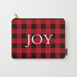 Joy Red Buffalo Check Carry-All Pouch