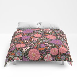 Saint Anthony Park Gardens (nightshade) Comforters