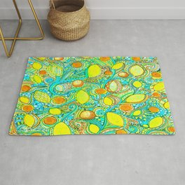 Abstract Citrus pattern drawing Rug
