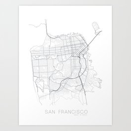 Made In Maps - San Francisco Art Print