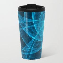 Tulles Star Computer Art in Blue Travel Mug