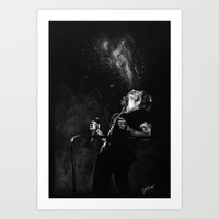cyrilliart Art Prints featuring Fountain Harry by Cyrilliart