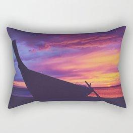 Longtail Thai boat on the beach Rectangular Pillow