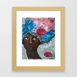 Dream Up Girl Framed Art Print