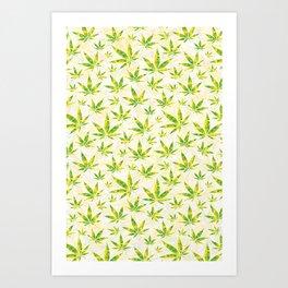 Weed OG Kush Pattern Art Print