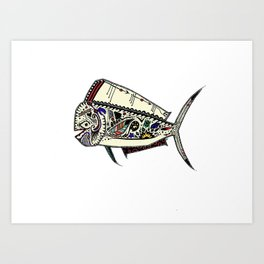 Mahi Mahi color Art Print