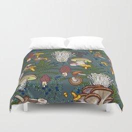 mushroom forest Duvet Cover
