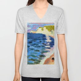 Henri Matisse High Tide at Etretat Unisex V-Neck