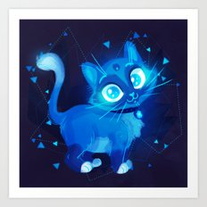 Sapphire Kitty Art Print