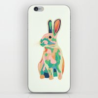 bunny iPhone & iPod Skins featuring Bunny by Sary and Saff