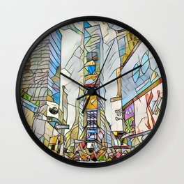 NYC Life in Times Square Wall Clock