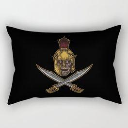 Spartan Warrior | Sparta Greek Fighter Skull Sword Rectangular Pillow