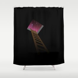 Escape to heaven - pink Shower Curtain