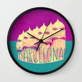 Barcelona Gaudi's Paradise Wall Clock