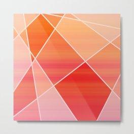 Hot Pink Blush Metal Print