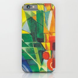 "Franz Marc ""Landscape with House and Two Cows (also known as Landscape with House, Dog and Cattle)"" iPhone Case"