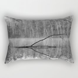Black and White Reflections over Bluegill Bond Rectangular Pillow