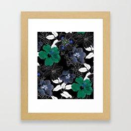 Botanical Bliss Black Framed Art Print