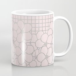 Forget Me Knot Pink Grid Coffee Mug