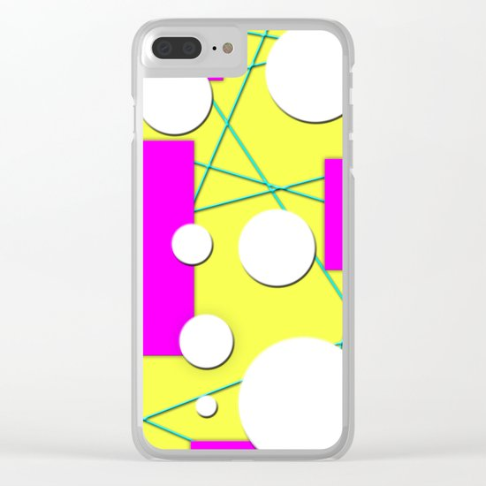Geo Shape Play in Summertime Colors Clear iPhone Case