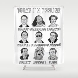 Nicolas Cage Signed - Today I'm Feeling Shower Curtain