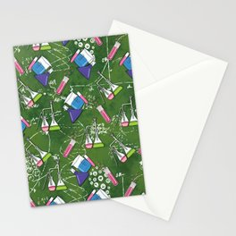 Beakers and Equations Stationery Cards