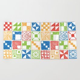 Square of Squares Beach Towel