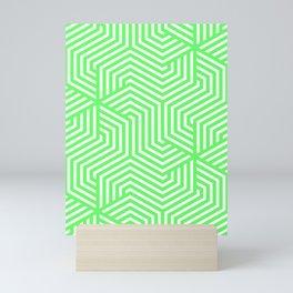 Screamin' Green - green - Minimal Vector Seamless Pattern Mini Art Print
