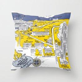 PITTSBURGH University map PENNSYLVANIA  dorm decor Throw Pillow