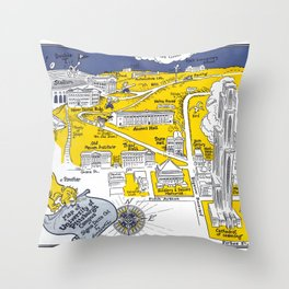 PITTSBURGH University map PENNSYLVANIA  dorm decor Throw Pillow