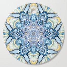 Blu star mandala Cutting Board