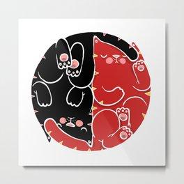 yin yang of us Metal Print