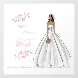 Here Comes The Bride Art Print