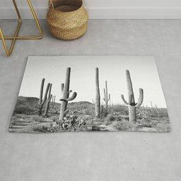 Grey Cactus Land Rug