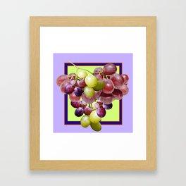 CLUSTER WINE GRAPES VINEYARD DESIGN Framed Art Print