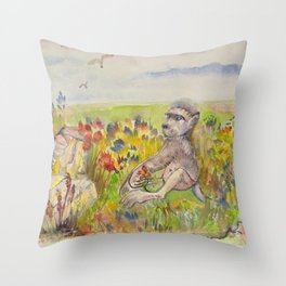 Sammy from Cape Point Throw Pillow