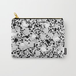 Real Terrazzo Stone Marble Concrete Mix Pattern Carry-All Pouch