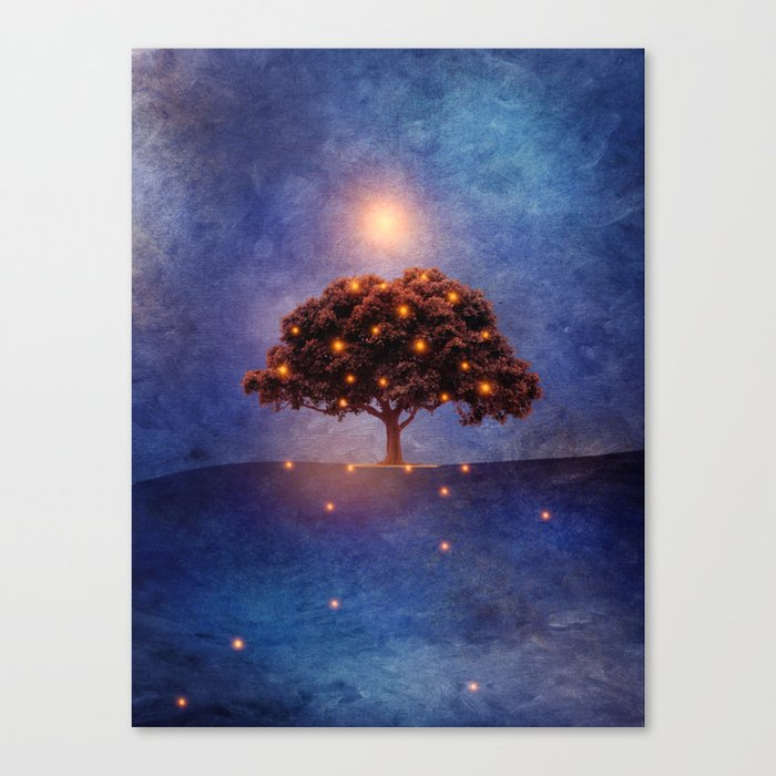 Energy & lights Canvas Print