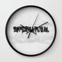 Supernatural monochrome Wall Clock