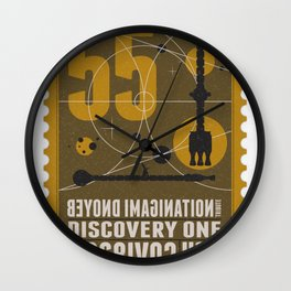 Beyond imagination: Discovery One postage stamp Wall Clock