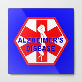 Alzheimer dementia medical identification ID tag Metal Print