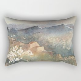 Desert Poppy Rectangular Pillow