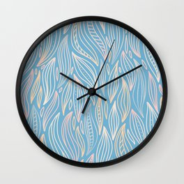 Hand Drawn Uneven Groove Pattern Wall Clock