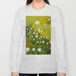 White tulips in buxus arrangement Long Sleeve T-shirt