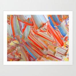 Orange Swirl Art Print