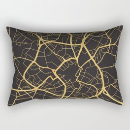 BIRMINGHAM ENGLAND GOLD ON BLACK CITY MAP Rectangular Pillow